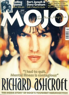 MOJO Music magazine July 2000 RICHARD ASHCROFT The Verve ref101542 Good Condition. This is a pre-owned item so may have some marks