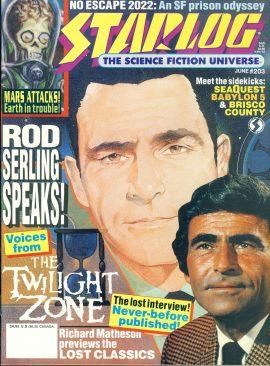 STARLOG magazine #203 1994 Rod Serling Twilight Zone ref100690 Pre-owned in very good condition. Magazine ONLY