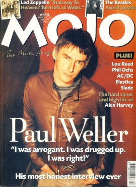 MOJO Music magazine April 2000 PAUL WELLER ref101545 Good Condition. This is a pre-owned item so may have some marks