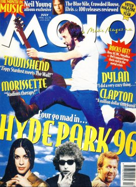MOJO Music magazine July 1996 London Hyde Park 96 ref101546 Good Condition. This is a pre-owned item so may have some marks
