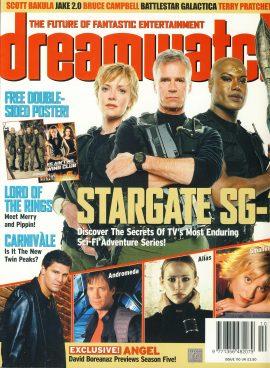 dreamwatch magazine #110 SG1