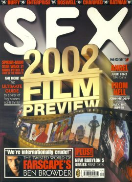 SFX magazine #87 2002 Film Preview ref101106 Pre-owned in very good condition. Magazine ONLY