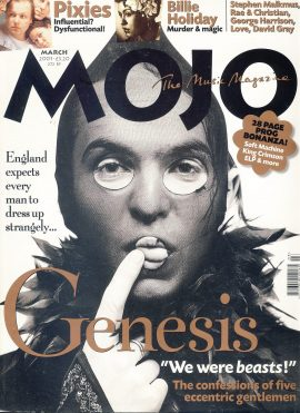 MOJO Music magazine March 2001 Genesis ref101550 Good Condition. This is a pre-owned item so may have some marks