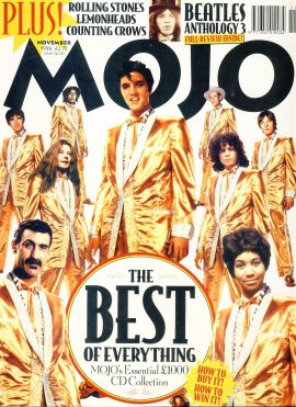 MOJO Music magazine November 1996 ref101552 Good Condition. This is a pre-owned item with ome marks