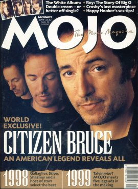 MOJO Music magazine January 1999 BRUCE SPRINGSTEEN ref101553 Good Condition. This is a pre-owned item so may have some marks