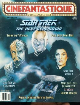 CINEFANTASTIQUE magazine 1994 STAR TREK Next Gen ROBERT HEINLEIN ref100391 Science Fiction