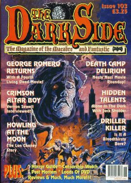 The Dark Side #103 Macabre & Fantasic magazine GEORGE ROMERO ef10136 Very Good Condition.  This listing is for the Magazine ONLY. Sorry no extras