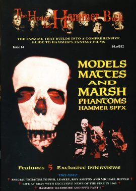 The House that Hammer Build fanzine #14 Models Mattes & March Phantoms SPFX film magazine ref10139 Very Good Condition.  This listing is for the Magazine ONLY. Sorry no extras