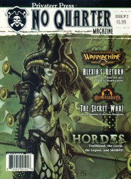 Privateer Press No Quarter magazine Issue no.2 2005 WARMACHINE Alexia's Return HOARDES Ref101391 Fantasy Board Games Magazine. Pre-owned in very good condition. Magazine ONLY