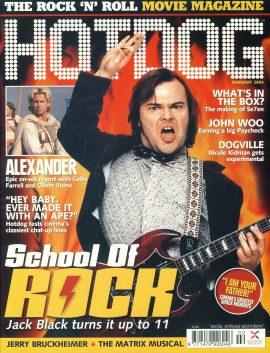 HOTDOG Movie Magazine FEBRUARY 2004 Jack Black