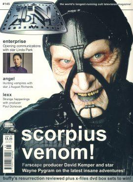 TV Zone magazine #145 scorpius venom! Linda Park