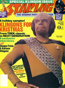 STARLOG magazine #138 1989 Special Klingon Issue ref100696 Pre-owned in very good condition. Magazine ONLY