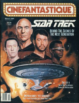 CINEFANTASTIQUE magazine 1989 STAR TREK behind the scenes