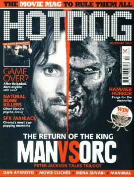 HOTDOG Movie Magazine DEC 2003 MANvsORC Peter Jackson ref100313  Pre-owned in very good condition for age. Please see larger photo and full description for details.