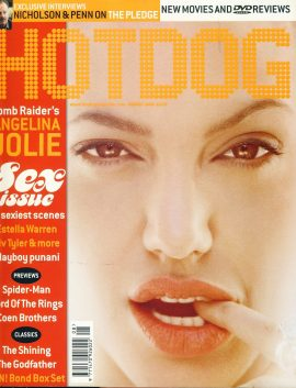 HOTDOG Movie Magazine AUG 2001 Sex issue Angelina Jolie ref100318  Pre-owned in very good condition for age. Please see larger photo and full description for details.