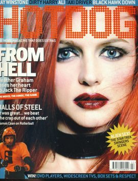 HOTDOG Movie Magazine FEB 2002 Heather Graham JACK THE RIPPER ref100321  Pre-owned in very good condition for age. Please see larger photo and full description for details.