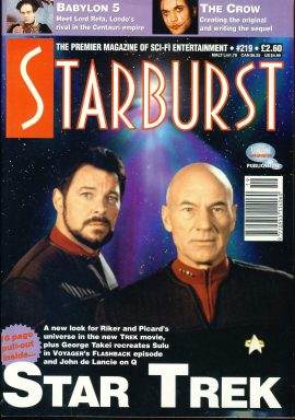 STARBURST Sci-Fi Entertainment magazine No.219 STAR TREK Riker & Picard ref100331 Pre-owned in very good condition. Please see larger photo and full description for details.