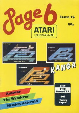 ATARI Page 6 #15 1985 computer magazine KANGA ref101152 Pre-owned in good condition. See 2nd photo for contents. Magazine ONLY