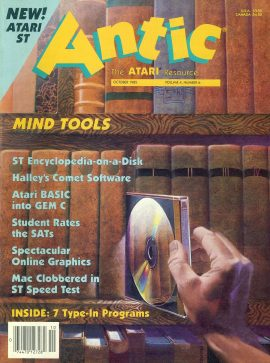 Antic ATARI magazine OCT 1985 Vol.4 #6 MIND TOOLS ref10115 Pre-owned in good condition. Magazine ONLY