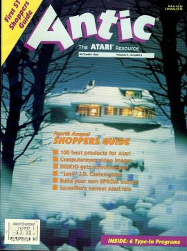 Antic ATARI magazine DEC 1985 Vol.4 #8 SHOPPER'S GUIDE with Autumn catalog inside ref101160 Pre-owned in good condition. Magazine ONLY