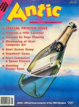 Antic ATARI magazine JAN 1984 Vol.2 #10 SPECIAL PRINTER ISSUE ref101167 Pre-owned in good condition. Magazine ONLY