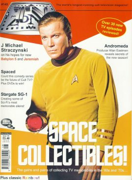 TV Zone Magazine Space Collectibles! #149 Wm Shatner CAPT. JAMES T KIRK ref101176 Pre-owned in very good condition. Magazine ONLY