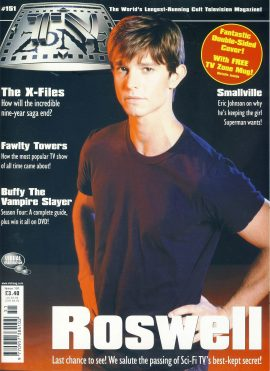 TV Zone Magazine #151 ROSWELL double sided cover ref101178 Pre-owned in very good condition. Magazine ONLY