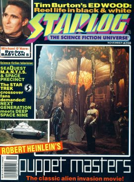 STARLOG magazine #208 1994 Michael O'Hare BABYLON 5 Tim Burton