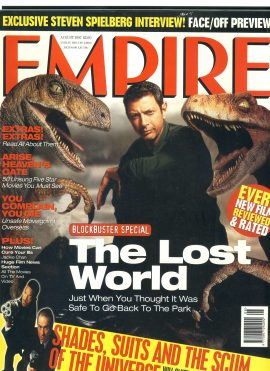 EMPIRE magazine August 1997 THE LOST WORLD Jeff Goldblum ref10040 Pre-owned in very good clean condition. Please see larger photo and full description for details.