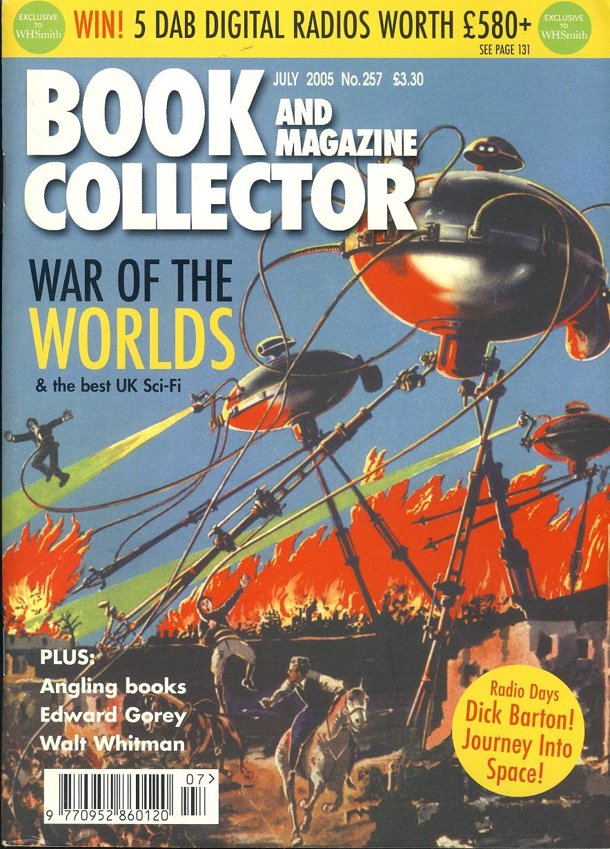 Book & Magazine Collector #257 War of the Worlds 7 the best Uk Sci-Fi ref101202 Pre-owned in very good condition. Magazine ONLY
