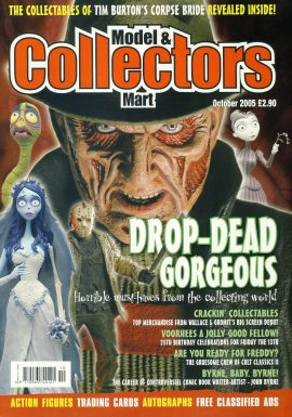 Model & Collectors Mart Magazine October 2005 Tim Burton's Corpse Bride ref101402 Pre-owned in very good condition. Magazine ONLY