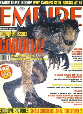 EMPIRE magazine August 1998 GODZILLA ref10043 Pre-owned in good clean condition. Please see larger photo and full description for details.