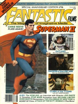 FANTASTIC FILMS Special Edition #16 1981 magazine JAMES EARL JONES Darth Vader interview CHRIS REEVE Superman II ref101151 Very Good Condition.  This listing is for the Magazine ONLY. Sorry no extras