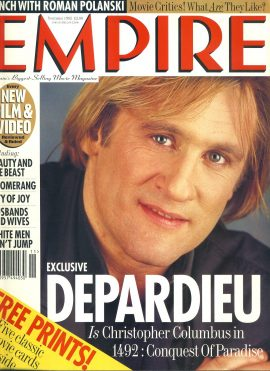 EMPIRE magazine November 1992 DEPARDIEU ref10047 Pre-owned in very good clean condition. Please see larger photo and full description for details.