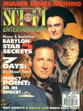 Sci-Fi Entertainment magazine 1998 Mumy & Boxleitner BABYLON 5 STAR SECRETS ref101156 Good Condition.  This listing is for the Magazine ONLY. Sorry no extras