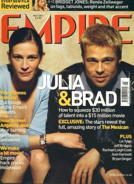 EMPIRE magazine May 2001 Julia Roberts & Brad Pitt ref10054 Pre-owned in very good clean condition. Please see larger photo and full description for details.