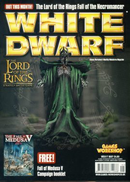 White Dwarf magazine #317 LOTR Fall of the Necromancer Games Workshop WARHAMMER ref101415  Pre-owned in very good condition. Magazine ONLY