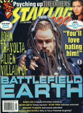 STARLOG #274 BATTLEFIELD EARTH John Travolta Terl's Confessions: Schemes & Scenarios magazine ref100916 Pre-owned in very good condition. Magazine ONLY