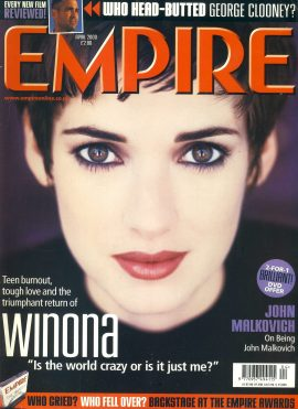 EMPIRE magazine April 2000 Vinona Ryder