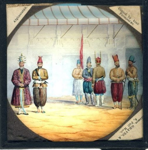 Afghanistan vintage magic glass lantern slide soldiers traditional dress ref30003 Please read the full description and see photo.