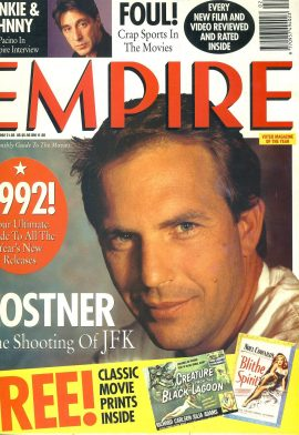 EMPIRE magazine February 1992 Kevin Costner JFK ref10074 Pre-owned in very good condition. Please see larger photo and full description for details.