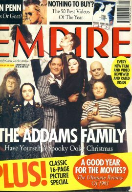 EMPIRE magazine January 1992 The ADDAMS FAMILY ref10076 Pre-owned in very good condition. Please see larger photo and full description for details.