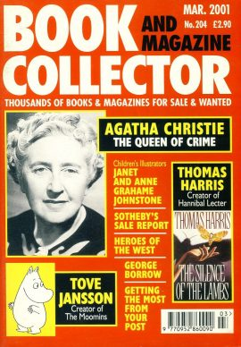 Book & Magazine Collector #201 2001 AGATHA CHRISTIE Tove Jansson THE MOOMINS ref101436 Very Good Condition. This listing is for the Magazine ONLY. Sorry no extras