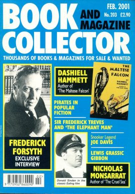 Book & Magazine Collector #203 2001 FREDERICK FORSYTH interview DASHIELL HAMMETT The Maltese Falcon PIRATES ref101437 Very Good Condition. This listing is for the Magazine ONLY. Sorry no extras