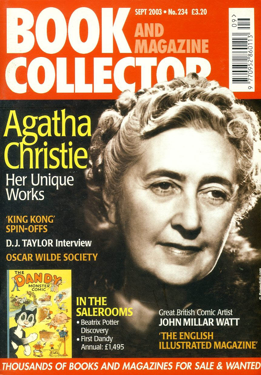 Book & Magazine Collector #234 2003 AGATHA CHRISTIE King Kong