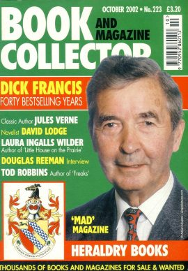 Book & Magazine Collector #223 2002 DICK FRANCIS Jules Verne DAVID LODGE Laura Ingalls Wilder DOUGLAS REEMAN Tod Robbins ref101439 Very Good Condition. This listing is for the Magazine ONLY. Sorry no extras