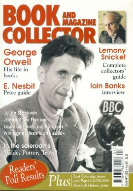 Book & Magazine Collector #251 2005 GEORGE ORWELL Lemony Snicket IAIN BANKS James Elroy Flecker LAUREL & HARDY COLLECTABLES ref101440 Very Good Condition. This listing is for the Magazine ONLY. Sorry no extras