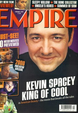 EMPIRE magazine February 2000 KEVIN SPACEY ref10086 Pre-owned in very good clean condition. Please see larger photo and full description for details.