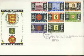 1969 GUERNSEY Bailiwich Definitive Stamps FDC refLSC14 In very good condition unsealed with insert card. Please see larger photo and full description for details.