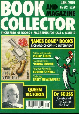 Book & Magazine Collector #202 Jan 2001 JAMES BOND Philip Gibbs LORNA DOONE Dr Seuss QUEEN VICTORIA ref101444 Very Good Condition. This listing is for the Magazine ONLY. Sorry no extras